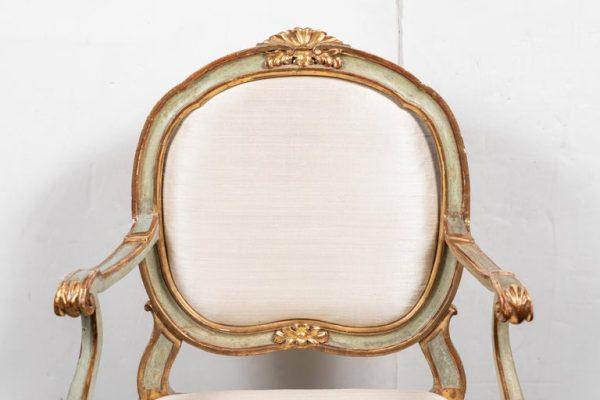 Antonios Bella Casa - Period, Venetian, Painted Armchair - antiques, antique furniture, antique chair, antique armchair, venetian armchair, italian armchair
