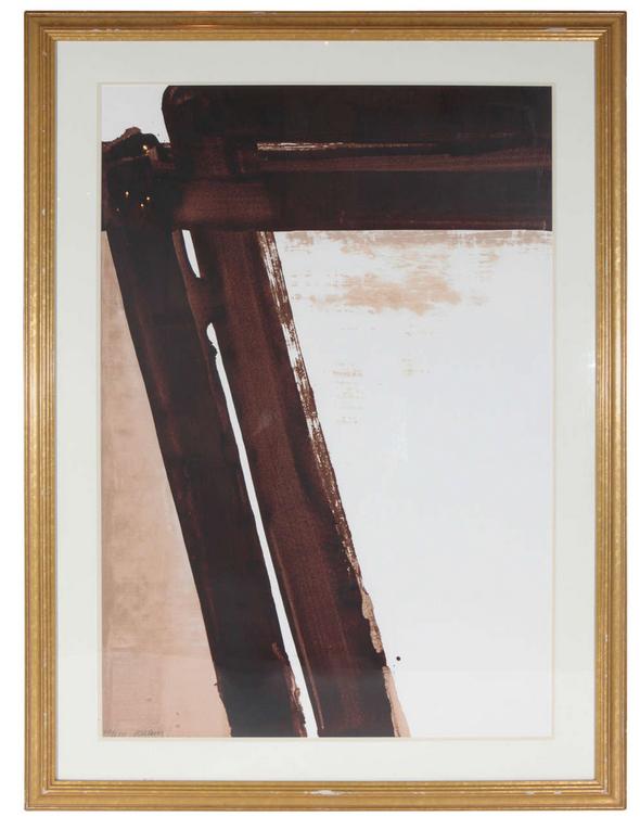 Antonios Bella Casa - Signed, Pierre Soulages Lithograph - art, artwork, fine art, modern art, contemporary art