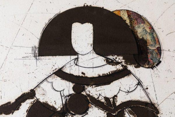 Antonios Bella Casa - Hand-Worked, Manolo Valdés Etching - art, artwork, modern art, fine art, art gallery