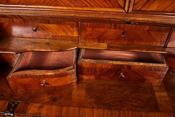 Antonios Bella Casa - 18th Century, Veneered and Inlaid Secretary - antique furniture, vintage furniture, antique case goods, antique cassetones, antique secretary, antique desk
