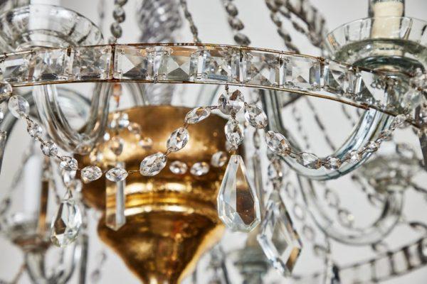 Antonios Bella Casa - Italian, 1950s, Crystal Chandelier - antiques, antique chandelier, antique lighting, vintage chandelier, vintage lighting