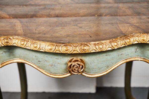 Antonios Bella Casa - 18th Century, Painted Demilunes - antique furniture, vintage furniture, antiques, 18th century furniture, antique table