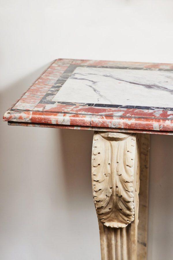 Antonios Bella Casa - Antique, Solid Marble Console Table - antique furniture, antique table, vintage table, marble table