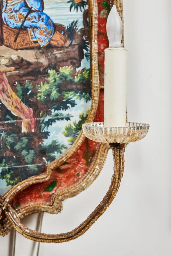 Antonios Bella Casa - Suite of Italian, Chinoiserie Sconces - antique sconces, antique lighting, vintage sconces, vintage lighting
