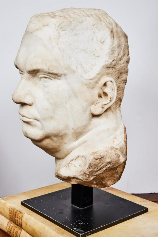 Antonios Bella Casa - Antique Bust of Roman Emperor Vitellius statue